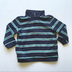 Janie and jack 1/4 zip pullover sweatshirt